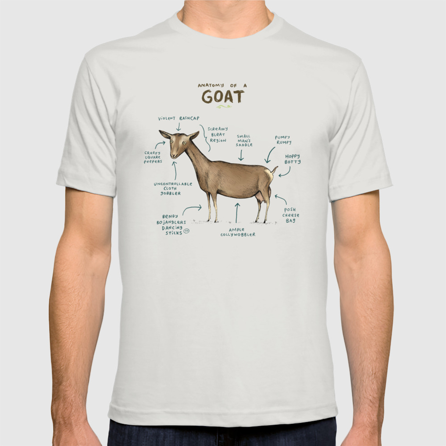 90f1a75c1 Anatomy of a Goat T-shirt by sophiecorrigan | Society6