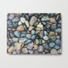 Sea Pebbles Metal Print