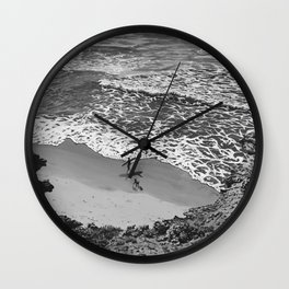 Reunited - black and white Wall Clock