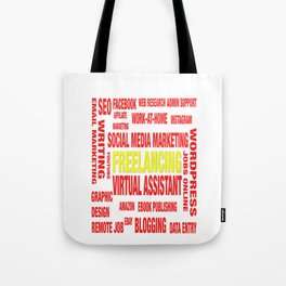 Online Jobs Design Tote Bag