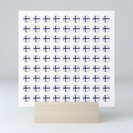 Flag of Finland 5 -finnish, Suomi, Sami,Finn,Helsinki,Tampere Mini Art Print