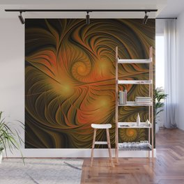 flames on black -725- Wall Mural
