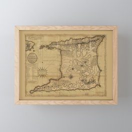 Map of the Isle of Trinidad (1797) Framed Mini Art Print