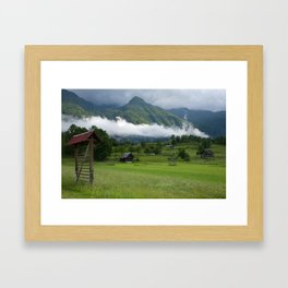 The calm after the storm Framed Art Print