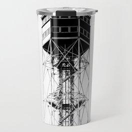 Metallic tower in Milan Travel Mug