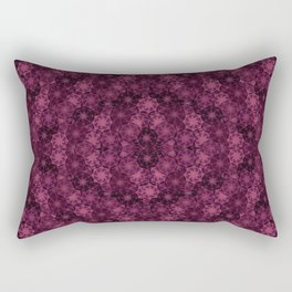 Romantic Floral Red Pattern Rectangular Pillow