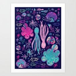 Cephalopods Garden Art Print