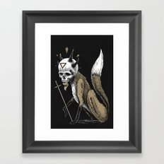 Kitsune Demon Fox Framed Art Print