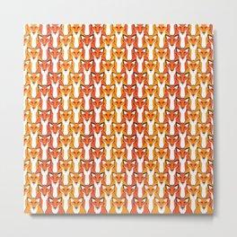 Autumn Foxes Metal Print