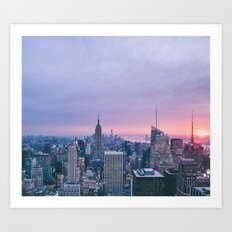 New York City Skyline - Manhattan Sunset Art Print