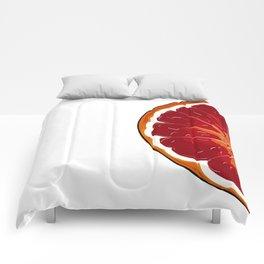 Orange print Comforters