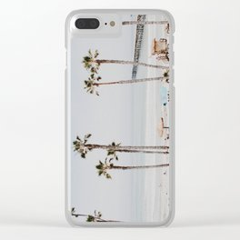 palm trees x / california Clear iPhone Case