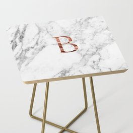 Monogram rose gold marble B Side Table