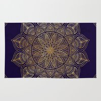 xbox Area & Throw Rugs featuring Gold Mandala by Mantra Mandala