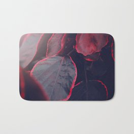 Sensual Red & Dark Purple Leaves Abstract Photography Patterns In Nature Bath Mat