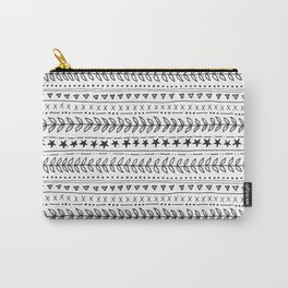 hand drawn pattern with leaves and stars Carry-All Pouch