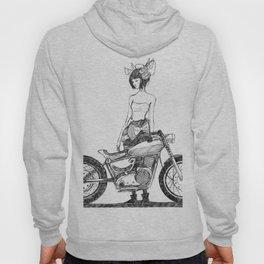 Geisha on a Motor Bike Hoody
