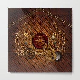 Steampunk, elegant  design Metal Print