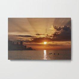 Habana Sunset Metal Print
