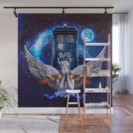 The Angel with Tardis Wall Mural