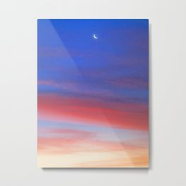 Sunset moon Metal Print