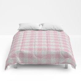 Light Pink Buffalo Plaid Comforters