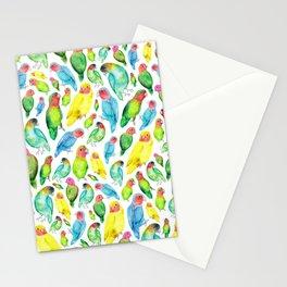 Love Birds Pattern Stationery Cards