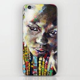 Reverie - Ethnic African portrait iPhone Skin