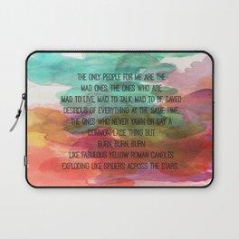 Kerouac Watercolour: Laptop Sleeve