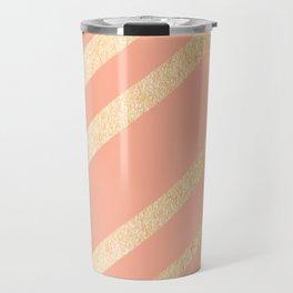 Sweet Life Swish Peach Coral + Orange Sherbet Travel Mug