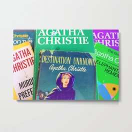 Destination Unknown - Vintage Agatha Christie Metal Print
