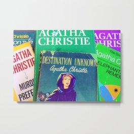 Destination Unknown - Vintage Agatha Christie Metal Print