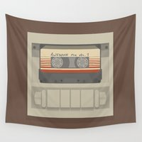guardians Wall Tapestries featuring Guardians of the Galaxy by bbaaahh