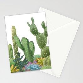 Milagritos Cacti on white background. Stationery Cards
