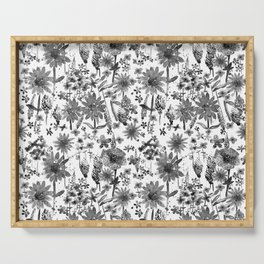 Wildflower Watercolor - White Serving Tray