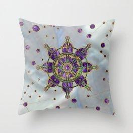 Dharma Wheel  - Dharmachakra Throw Pillow