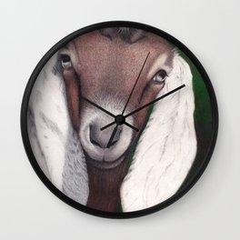 Waylon, a Young Goat Wall Clock