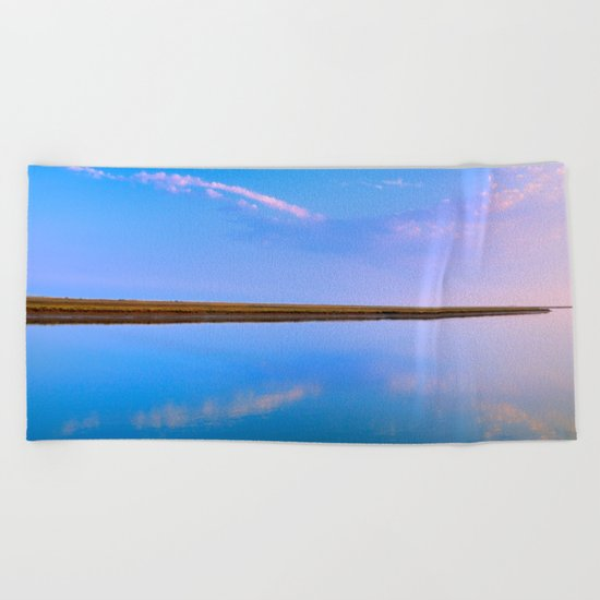 The line between two worlds Beach Towel