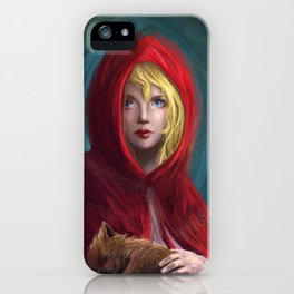 Red and Little Wolf iPhone Case