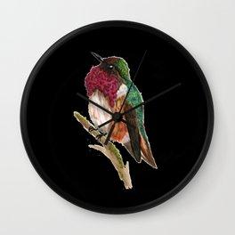 Wine-throated Hummingbird Wall Clock