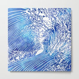 Blue Wave II Metal Print