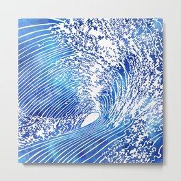 Blue Wave II Metal Print