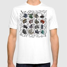 Retro Electronics SMALL White Mens Fitted Tee