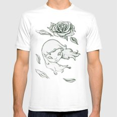 Rose in the wind Mens Fitted Tee MEDIUM White