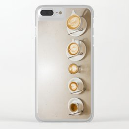 Espresso 5 ways Clear iPhone Case