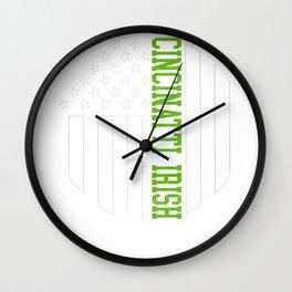 Cincinnati Irish graphics by Howdy Swag design Wall Clock