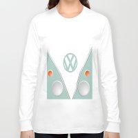 vw Long Sleeve T-shirts featuring Simplistic VW by AshyGough