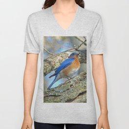 Bluebird in Tree Unisex V-Neck