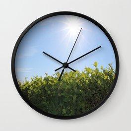 Summer Photos, Nature Photography, fine art gifts, Landscape Photo, sunshine photo Wall Clock