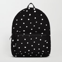 Minimal- Small white polka dots on black - Mix & Match with Simplicty of life Backpack
